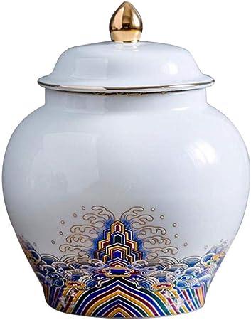 estilo chino Tarro de t/é de cer/ámica latas tradicionales tarros de almacenamiento latas de t/é organizador de t/é estilo vintage