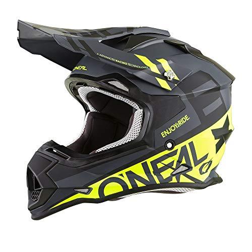 (O'Neal Unisex-Adult Off-Road Style 2SERIES Helmet SPYDE black/hi-viz L (Large))