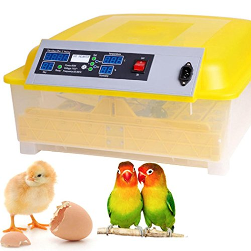 Mewalker Automatic Digital Egg Incubator 48 Eggs Poultry Hatcher for Chickens Ducks Goose Birds (US - Contact 48 Hours Information