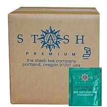 Stash Tea Moroccan Mint Green Tea Bags, 100-Count Box