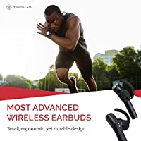 Treblab X5 - Advanced Bluetooth Headphones w/Beryllium Speakers, Truly Incredible 3D Sound, Best Sports & Running True Wireless Earbuds, Noise Cancelling Microphone, Siri, Extended Battery 2018 Model from Productech