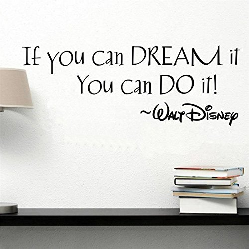 2pcs If You Can Dream It DIY Vinyl Quote Wall Sticker Mural Decals Living Bed Home Decoration Removable