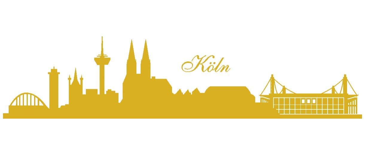 Samunshi® Wandtattoo Köln Köln Köln Skyline Stadion in 6 Größen und 19 Farben (230x52cm schwarz) B00URSA7WG Wandtattoos & Wandbilder a56575