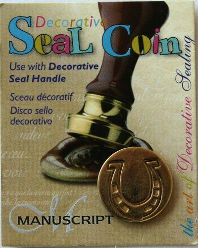 Manuscript Pen 727HRS Decorative Seal Coin, 0.75-Inch, Horseshoe