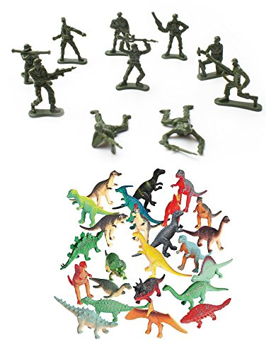 [Plastic Toy Soldiers (144 count) and Plastic Dinosaur Toys (72 count) Bundle] (Karl Marx Costume)
