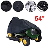 feifei 54'' Weatherproof Tractor Cover, Heavy Duty 210D Polyester Fabric Garden Yard Riding Mower Lawn Cover