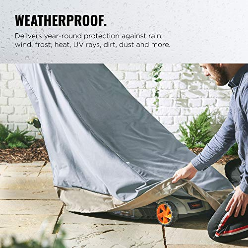 "VonHaus Lawn Mower Cover 43"" – 'The Storm Collection' Premium Heavy Duty Waterproof Outdoor Protection – Universal Fit Cover Fits Gas, Electric & Push Lawn Mowers L36.5"" x D20"" x H43"""