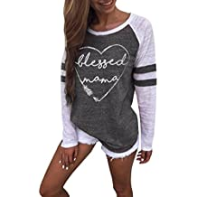 Gillberry Women Ladies Short Sleeve Splice Blouse Tops Clothes T Shirt for Women