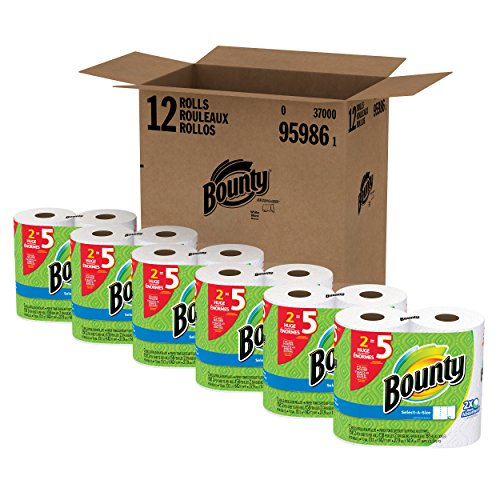 Paper Towel Rolls For Hamsters: Bounty Select-a-Size Paper Towels, White, Huge Roll, 12