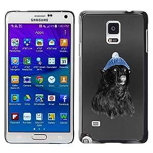 Caucho caso de Shell duro de la cubierta de accesorios de protección BY RAYDREAMMM - Samsung Galaxy Note 4 SM-N910F SM-N910K SM-N910C SM-N910W8 SM-N910U SM-N910 - Hipster Bear