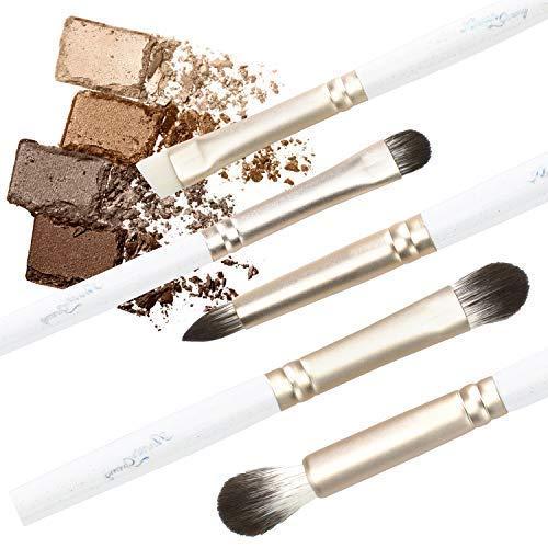 (Anne's Giverny Eyeshadow Brush Set Blending Crease Smudge Eyeliner Detailer Kit in 5pcs Eyebrow Makeup Brushes )