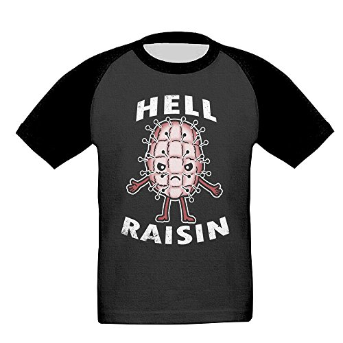 Hell Raisin Been Stitched Jersey Baseball Tee T Shirts For Kids Toddler Baby Boys Girls (Raisin Infant Girl)