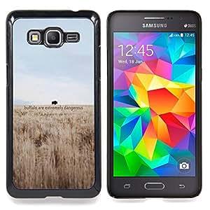 """Dangerous Buffalo"""" - Metal de aluminio y de plástico duro Caja del teléfono - Negro - Samsung Galaxy Grand Prime G530F G530FZ G530Y G530H G530FZ/DS"""