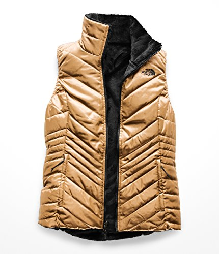 The North Face Women's Mossbud Insulated Reversible Vest Metallic Copper/TNF Black - Quilted Jacket Metallic