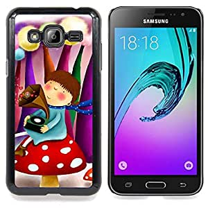 - Cute Fantasy Girl/ Hard Snap On Cell Phone Case Cover - Cao - For Samsung Galaxy J3
