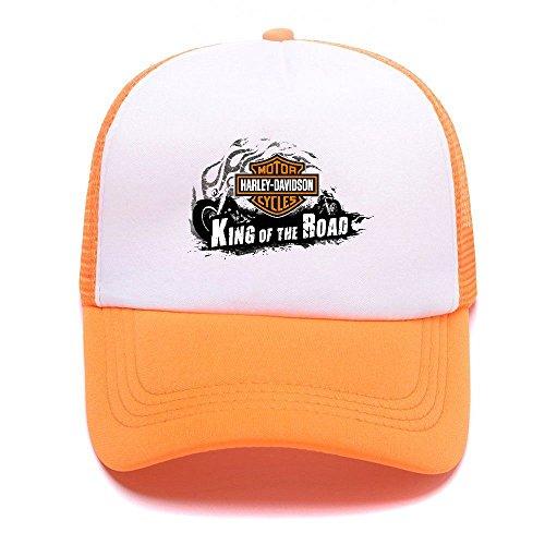 Harley D Black Baseball Caps Gorras de béisbol Trucker Hat Mesh Cap For Men Women Boy Girl 005 Orange
