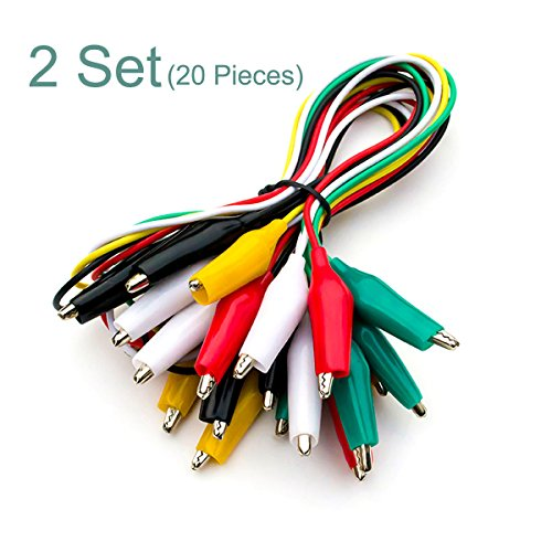 2 Set (10 PCS/Set) 19 Inch Double-ended Crocodile Clips Cable Alligator Testing Wire With 1 Set Multimeter