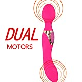 PNBB Double motors Vibrator Sex Toy - G-spot Vibrating with 10 Multi-Speed - Head Wand Massager and Tail Vibrating - 100% Waterproof USB Charge Dildos Penis for Men - Women or Couples