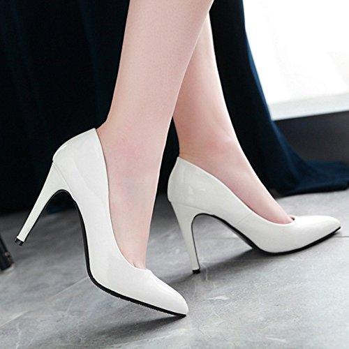 La Des Pompes Fête Taoffen Femmes Mode Escarpins Blancs Talons De 36 ZP1Rtq