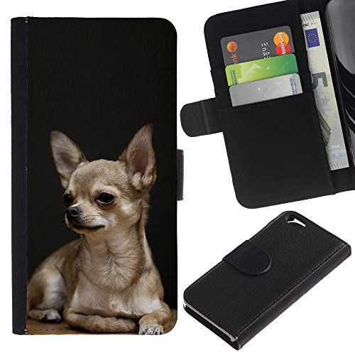 EuroCase - Apple Iphone 6 4.7 - Chihuahua tiny pet dog canine purse - Cuir PU Coverture Shell Armure Coque Coq Cas Etui Housse Case Cover