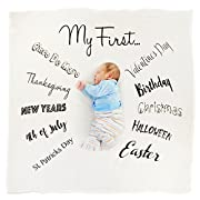 Kiddo Kind Baby's First Holiday Milestone Blanket - Photography Props for Baby Boy & Baby Girl