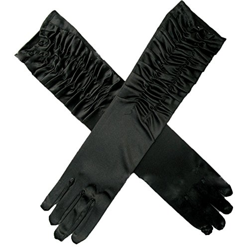 Classic Adult Size Long Opera Elbow Wrist Length Satin Gloves Evening Party - Gloves Evening Length