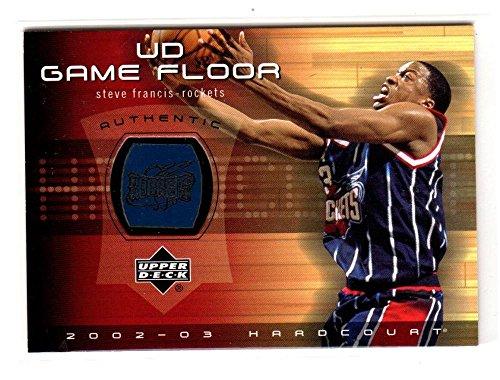 2002-03 Upper Deck Hardcourt Game Floor Steve Francis #SF-F NM Near Mint MEM
