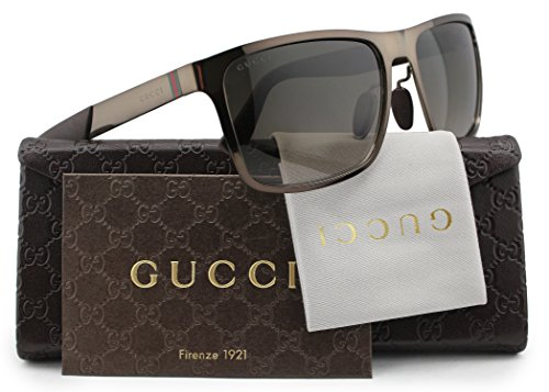 GUCCI GG2238/S Sunglasses Brown w/Brown Gradient (0IGJ) 2238/S IGJ HA 57mm - Gucci Authentic Glasses