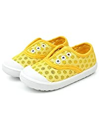 Baby-QQ Hardwearing Boys Girls Fashion Soft Oxford Sole Slip On Flat Loafer Shoes(Toddler/Little Kid)