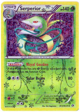Pokemon - Serperior (RC3/RC25) - Legendary Treasures