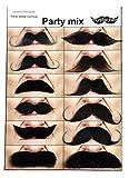 Mustaches Self Adhesive, Novelty, Fake, Value Pack (12pcs.)