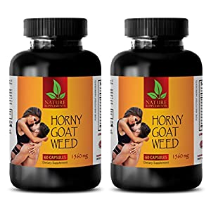 Natural male enchantment pills increase size and length - HORNY GOAT WEED NATURAL COMPLEX - Horny goat weed best seller - 2 Bottles 120 Capsules