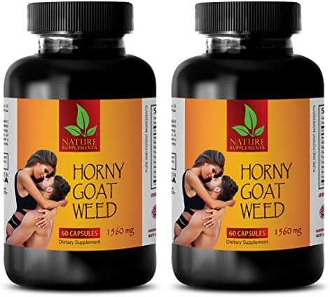 Male enhancing pills increase size and length - HORNY GOAT WEED NATURAL COMPLEX - Horny goat weed pills - 2 Bottles 120 Capsules
