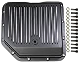 Pirate Mfg Chevy Black Finned Aluminum Turbo 350 Transmission Pan CBC Th-350 Th350 Trans