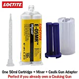 Loctite EA E-05MR (1086598) Moisture Resistant Fast Setting Crystal Clear Epoxy (50ml/1.7oz) Caulk Gun Adapter Kit