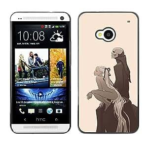 Caucho caso de Shell duro de la cubierta de accesorios de protección BY RAYDREAMMM - HTC One M7 - Parca y Rubio