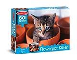 Melissa & Doug Cute Cat Pet Flowerpot Kitten Jigsaw Puzzle (60 pcs)