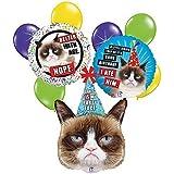 Grumpy Cat 9 pc Birthday Balloon Bouquet