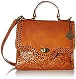 American West Hidalgo Top-Handle Convertible Flap Bag, Tan