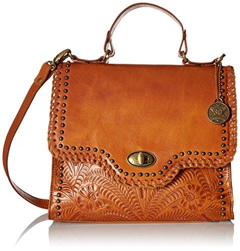 American West Hidalgo Top-Handle Convertible Flap Bag, Tan by American West