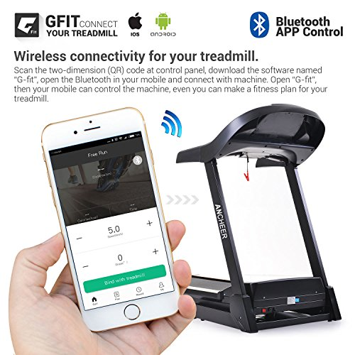 ANCHEER Treadmill APP Bluetooth Control Newest S9300