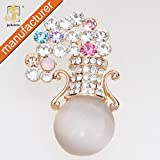 Worldwide Mall New Pin Broches Hunger Games China Brooch Handmade Beautiful Gold-Plated Vase Cheap Rhinestone Opal Brooches For
