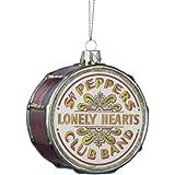The Beatles Kurt Adler Pepper Drum Glass Ornament