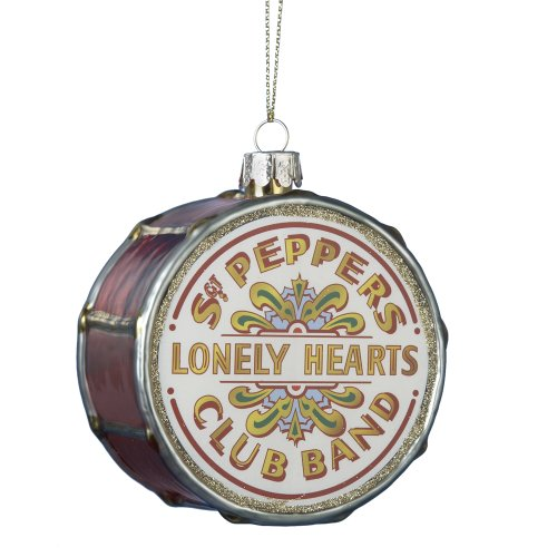 (The Beatles Kurt Adler Pepper Drum Glass Ornament)