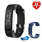 Fitness Tracker HR - Letsfit Activity Tracker Watch with Heart Rate Monitor - IP67 Waterproof Smart Bracelet with Calorie Counter Pedometer Watch Replacement Band for Android and iOS