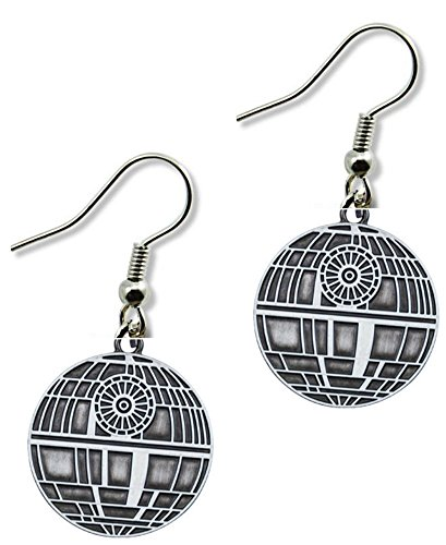 [Dangle Earrings Star Wars Death Star Color In Gift Box by Superheroes] (4 Star Dragonball Costume Color)