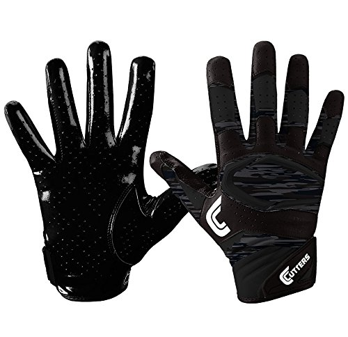 Cutters Gloves Youth Rev Pro 2.0 Phantom Camo Receiver Gloves, Black, Small by Cutters
