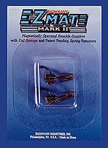 Bachmann Trains E-Z Mate Magnetic Knuckle Couplers - Center Shank - Long (Card of 12)