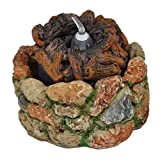 Miniature Fairy Garden Stone Fire Pit with Light