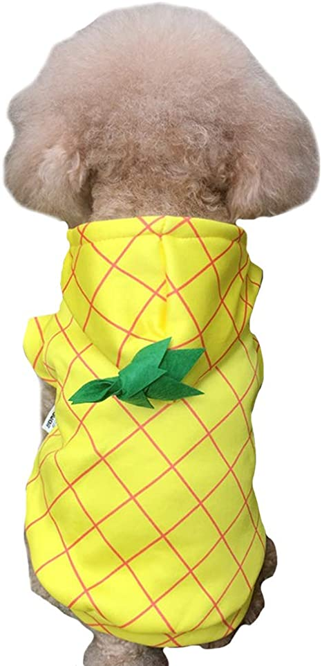 FLAdorepet - Disfraz de piña para Perro, Abrigo de Forro Polar ...